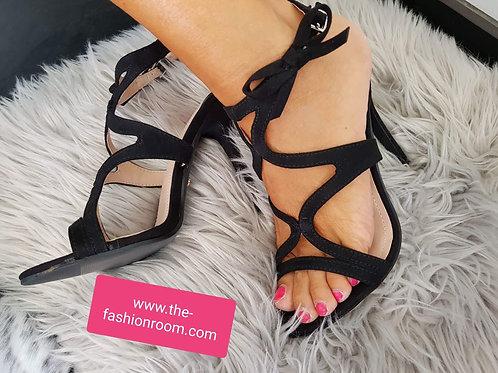 sandale à brides noires
