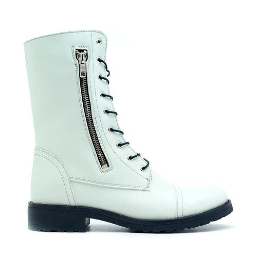 Zaira White Vegan Boots