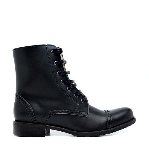 Alba Black Vega Lace-Up Boots