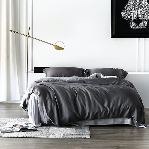 Duo-tone Bedding Set - King size (Charcoal)