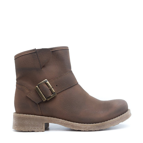 June Brown Vegan Low Barrel Boots