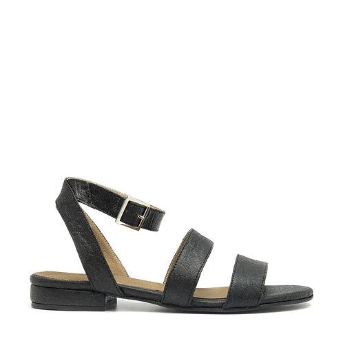Gatria Black Vegan Sandals