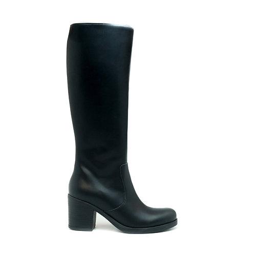 Andrea Black Vegan Knee High Boots