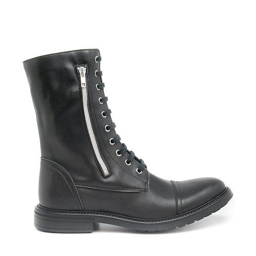 Caleb Black Vegan Medium Barrel Boots