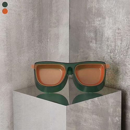 The Binocular Feeder - Emerald/Tangerine