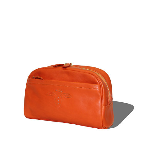 Cosmetic Pouch -Tangerine