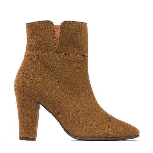 Bline Brown Vegan Ankle Boots