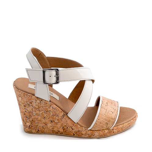 Cleo Cork Ankle Strap Wedge