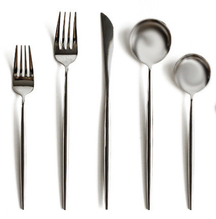 Porto Cutlery 14-pc Set in Silver Mirror Polish
