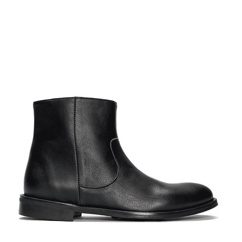 Lester Black Vegan Zip-Up Ankle Boots