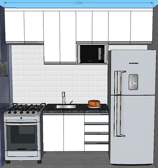 Fotos de cozinha planejada americana pequena 8