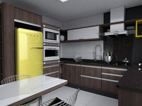 Cozinha Grande Planejada feita Sob Medida em U   Moveis Planejados em
