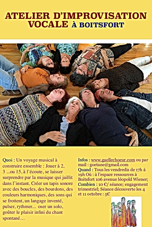 Atelier d'improvisation vocale - Gaëlle de Crombrugghe