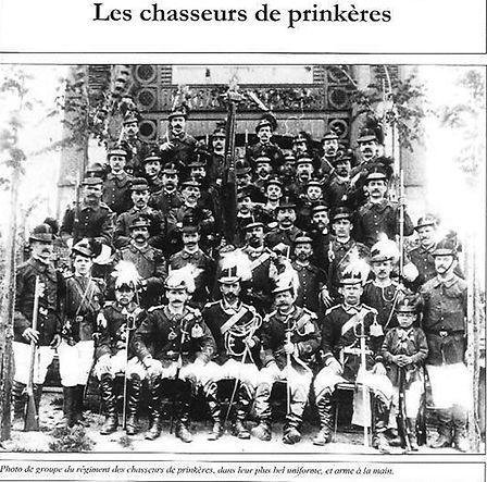 l'uniforme des chasseurs de prinkères
