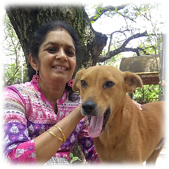 neela and scholar dog