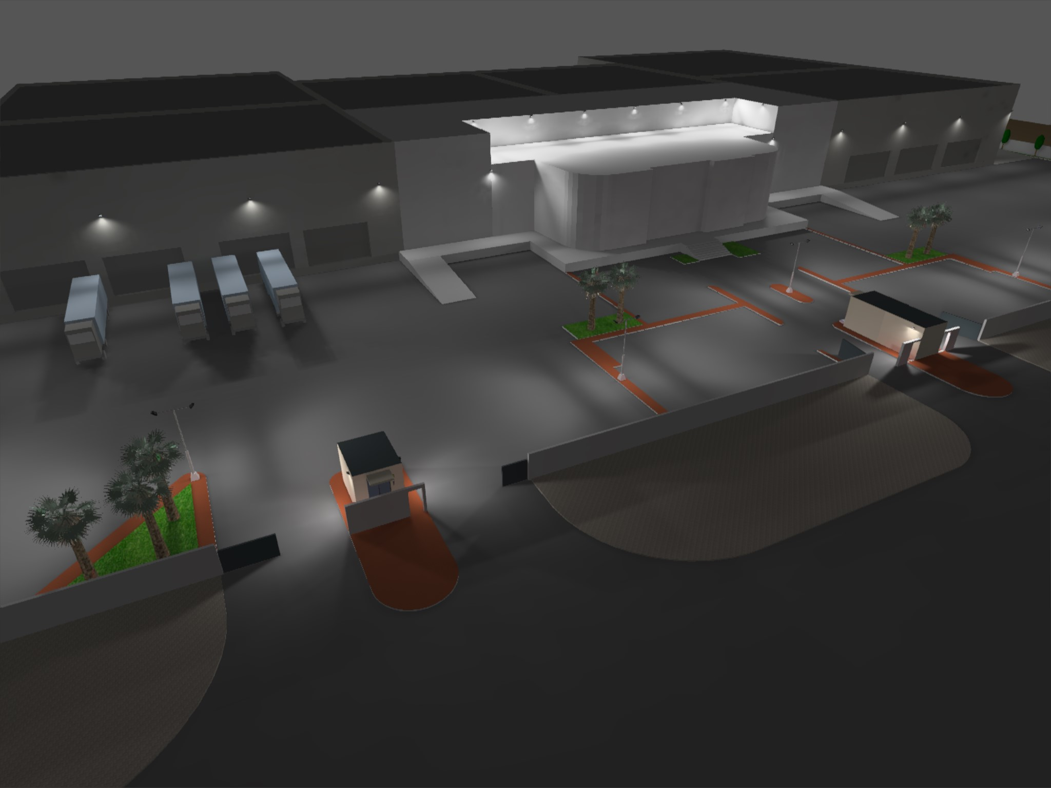 Dialux evo - Warehouse Design - Site View1