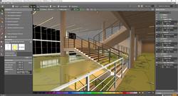 Sample atrium stairs lighting design
