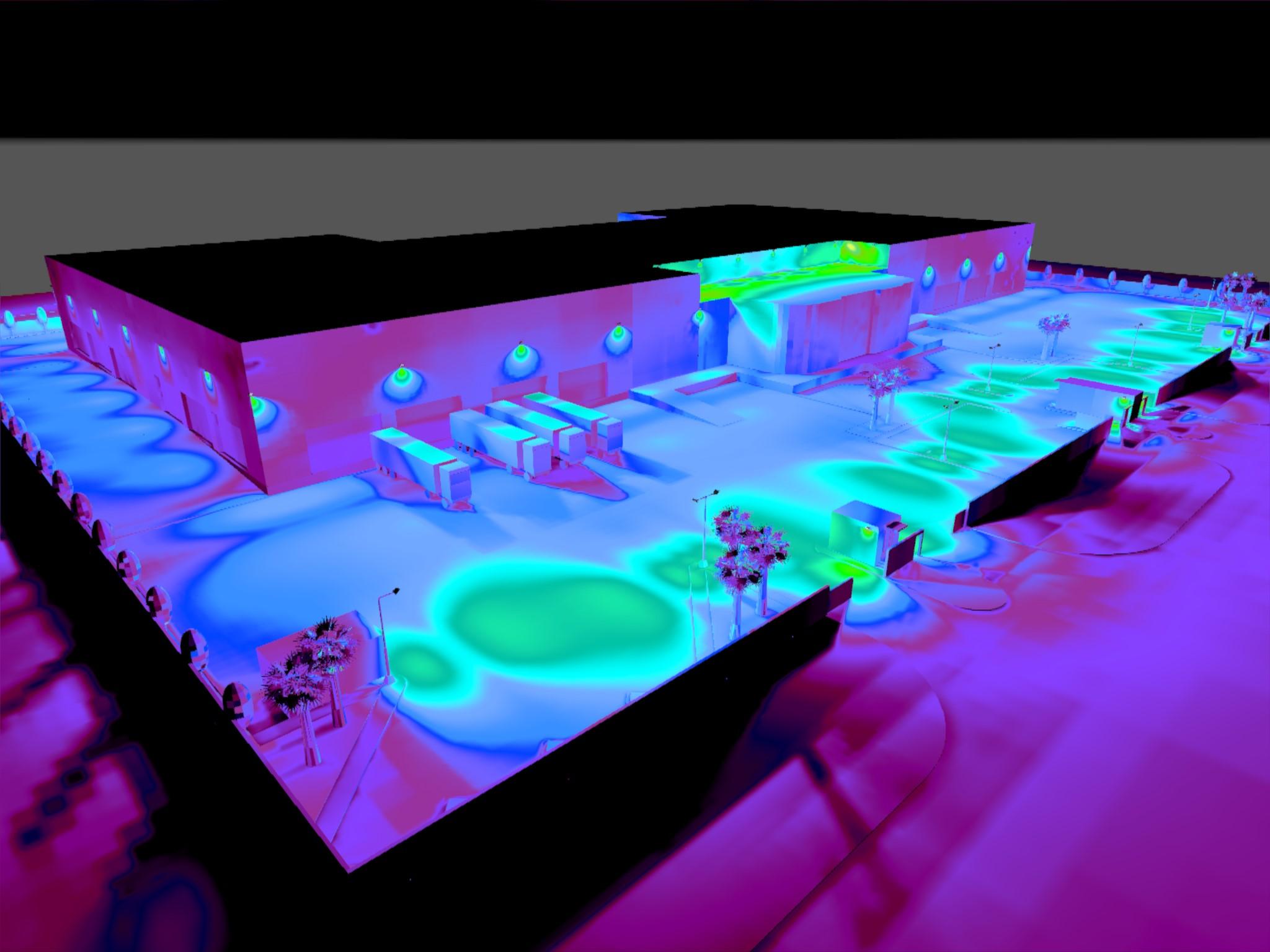 Dialux evo - Warehouse Design - Pseudo-color1