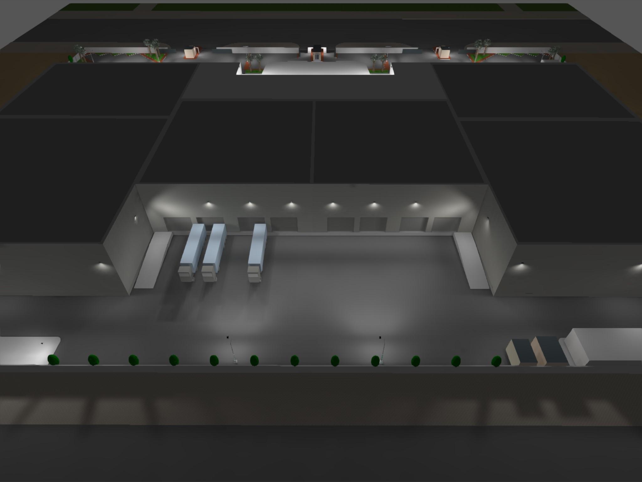 Dialux evo - Warehouse Design - Site View5
