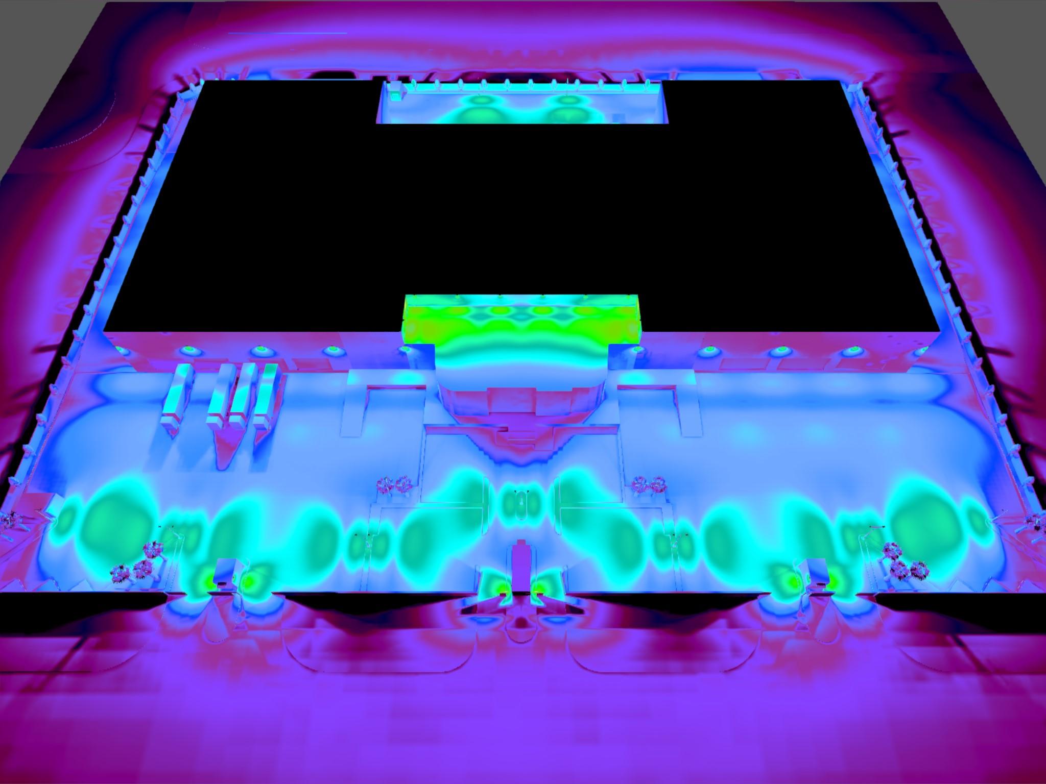 Dialux evo - Warehouse Design - Pseudo-color3