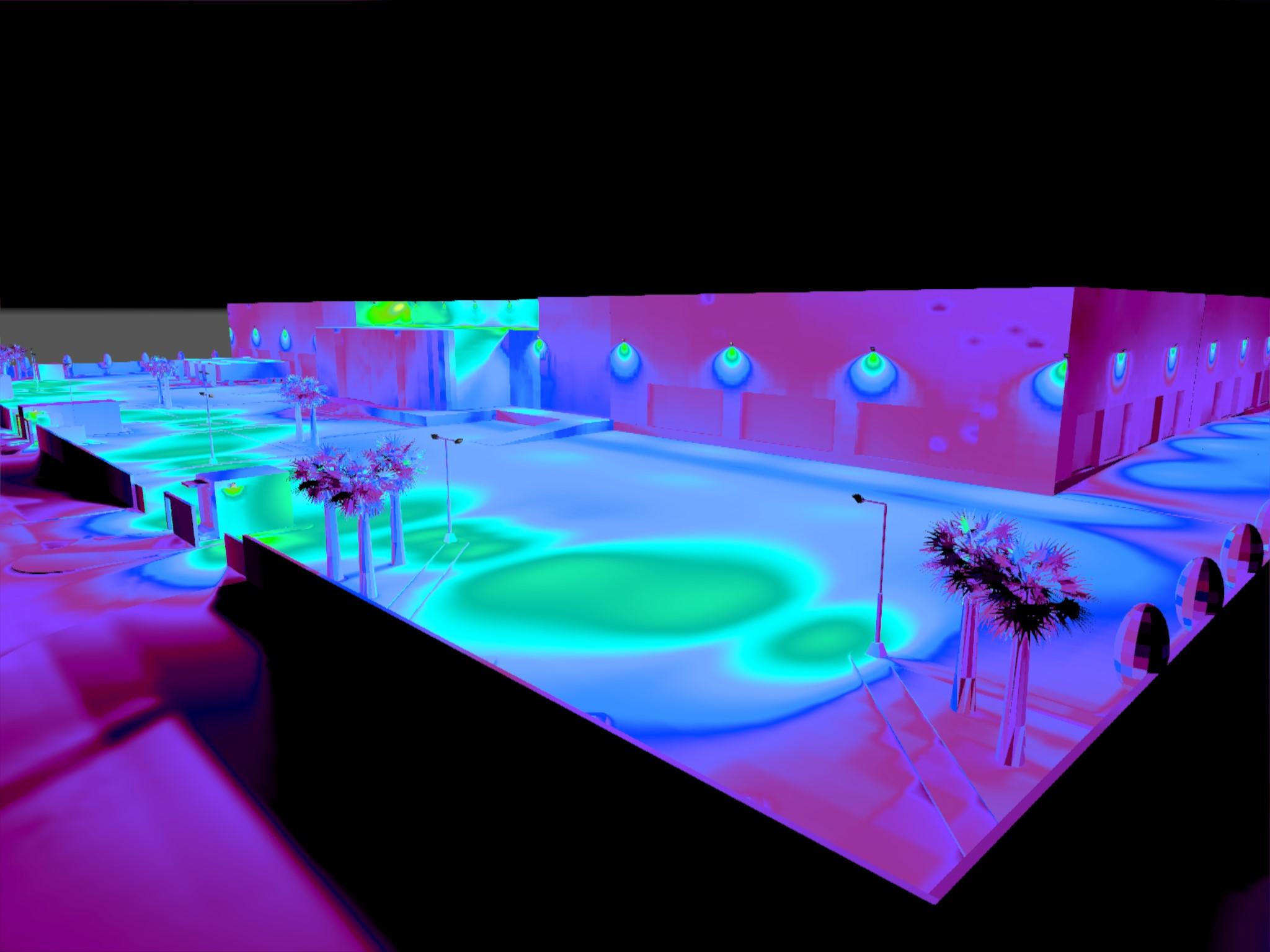 Dialux evo - Warehouse Design - Pseudo-color
