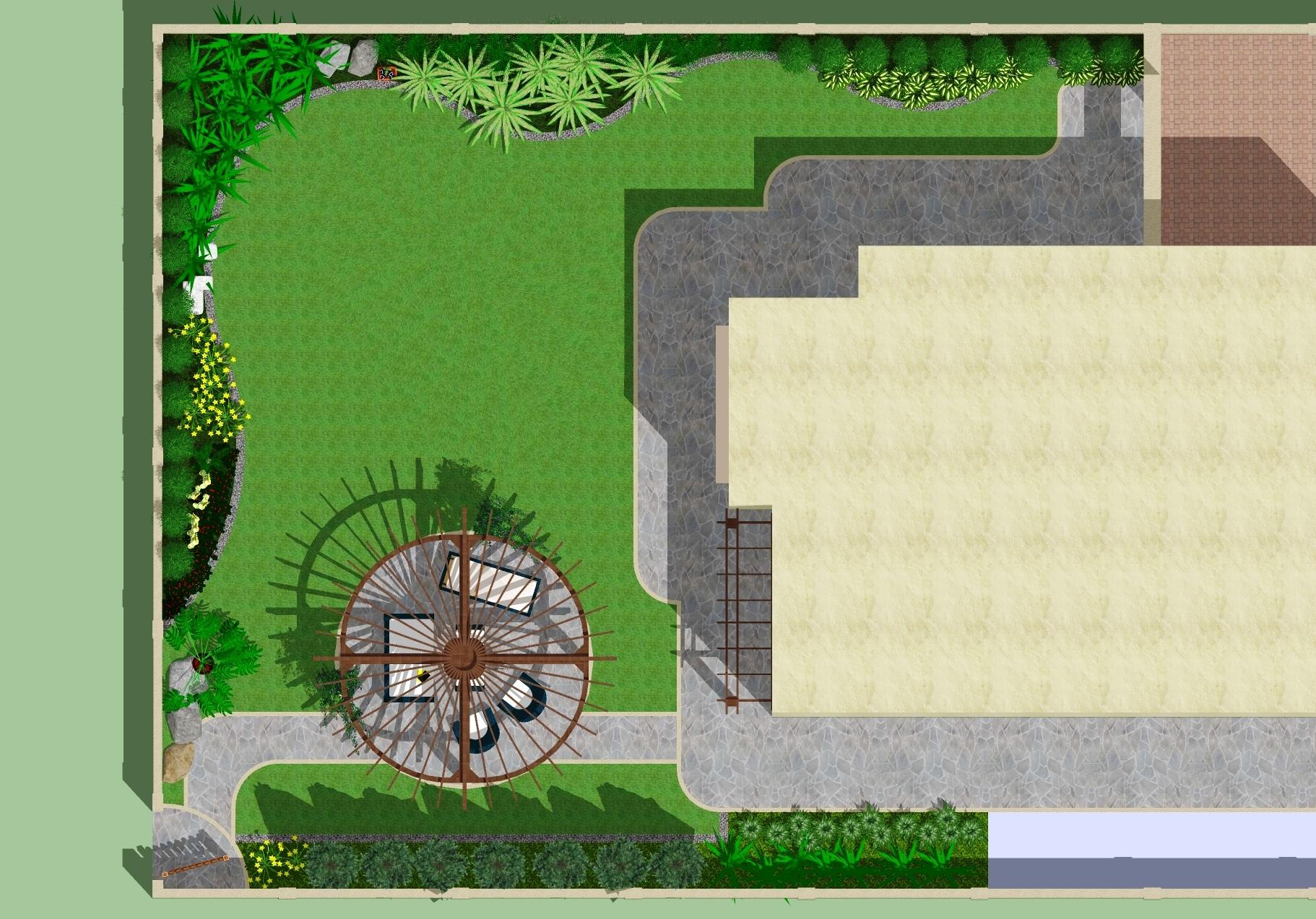 sample sketchup landscape