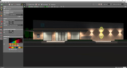 simple outdoor facade lighting design