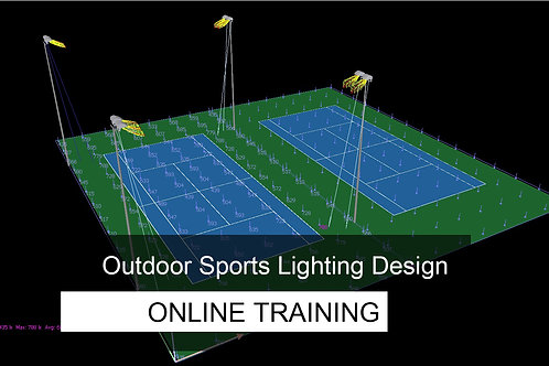 8 days ONLINE Training - Outdoor Sports Lighting Design Course