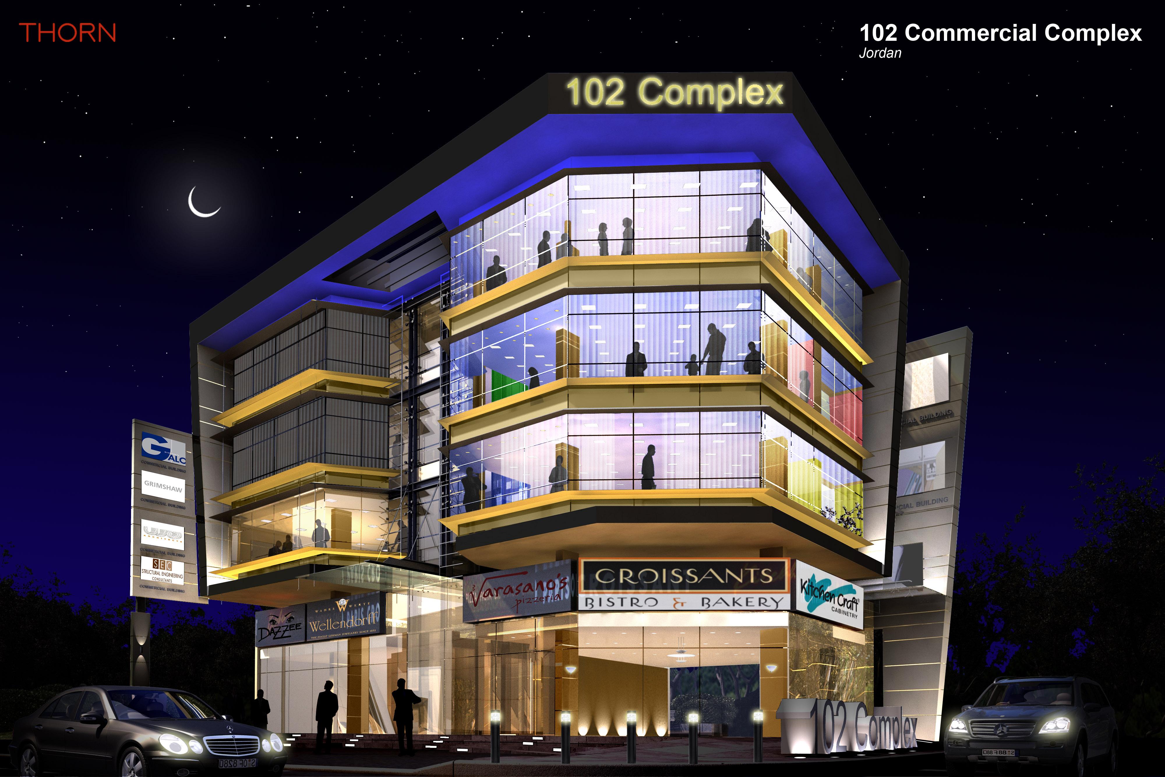 102 Commercial Complex FAcade Lighting