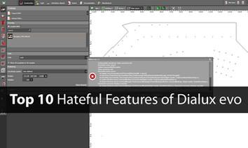 Top 10 hateful features of Dialux evo