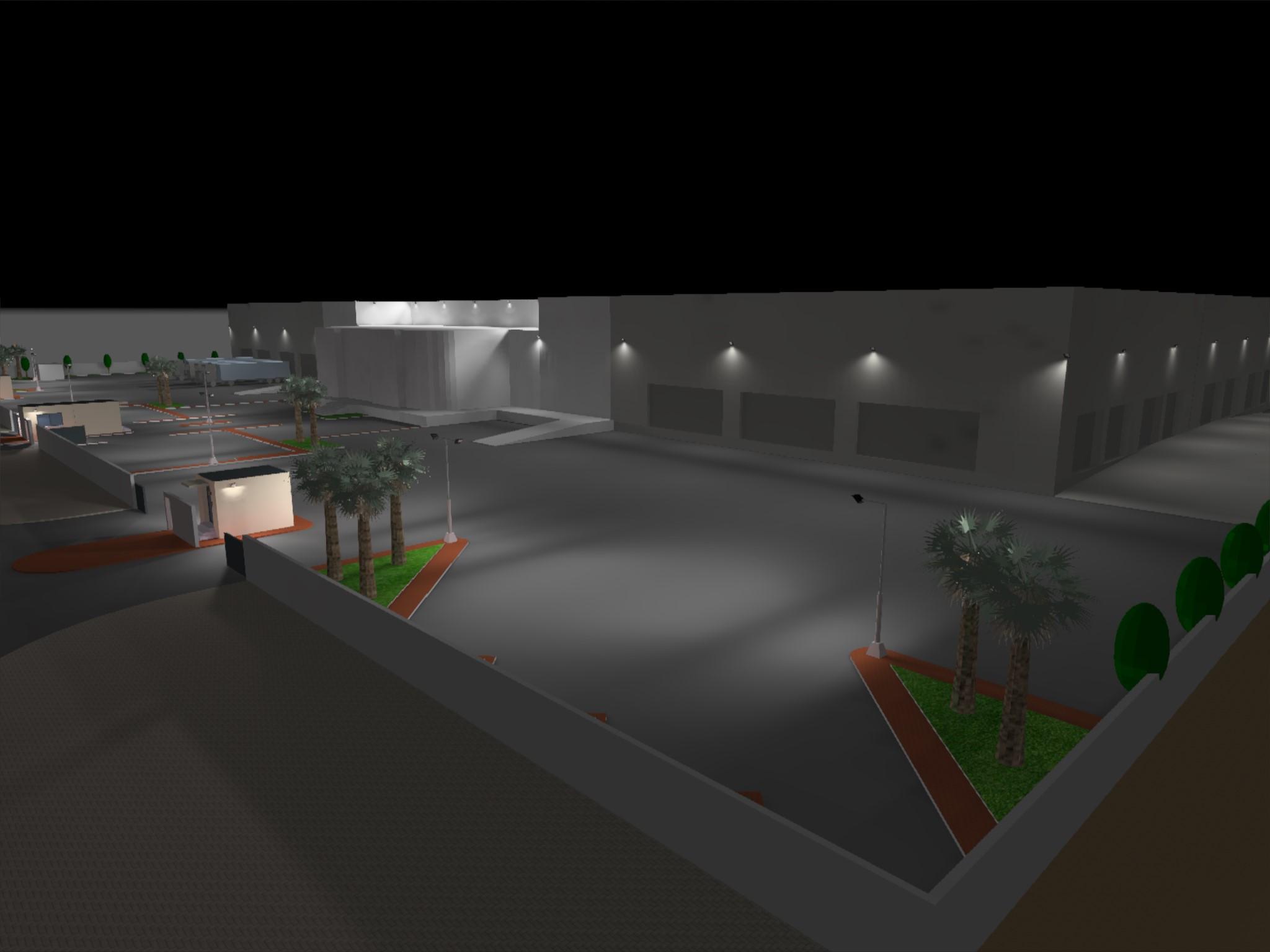 Dialux evo - Warehouse Design - Site View2