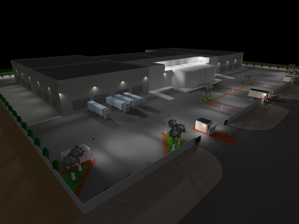 Dialux evo - Warehouse Design - Site View6