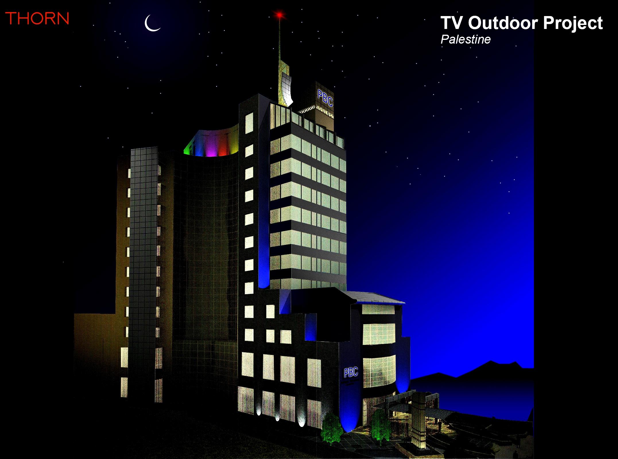 TV Outdoor Facade Lighting