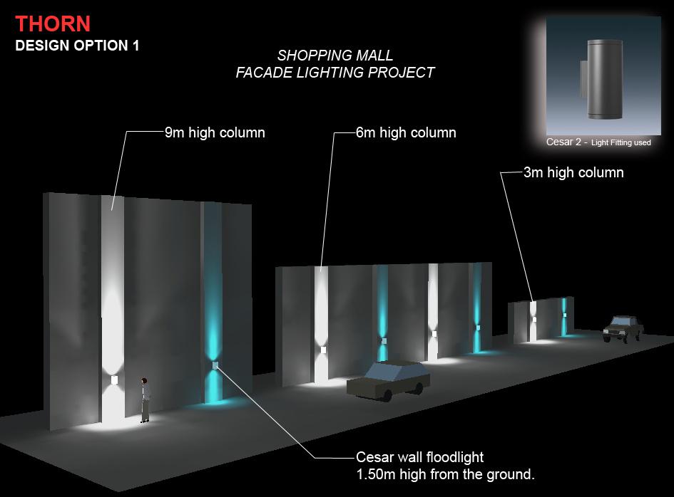 Facade Lighting Design Dialux