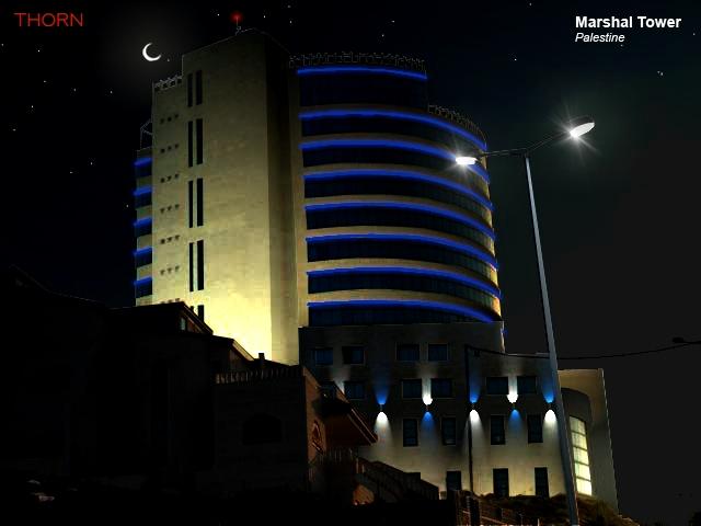 Marshal Tower Facade Lighting