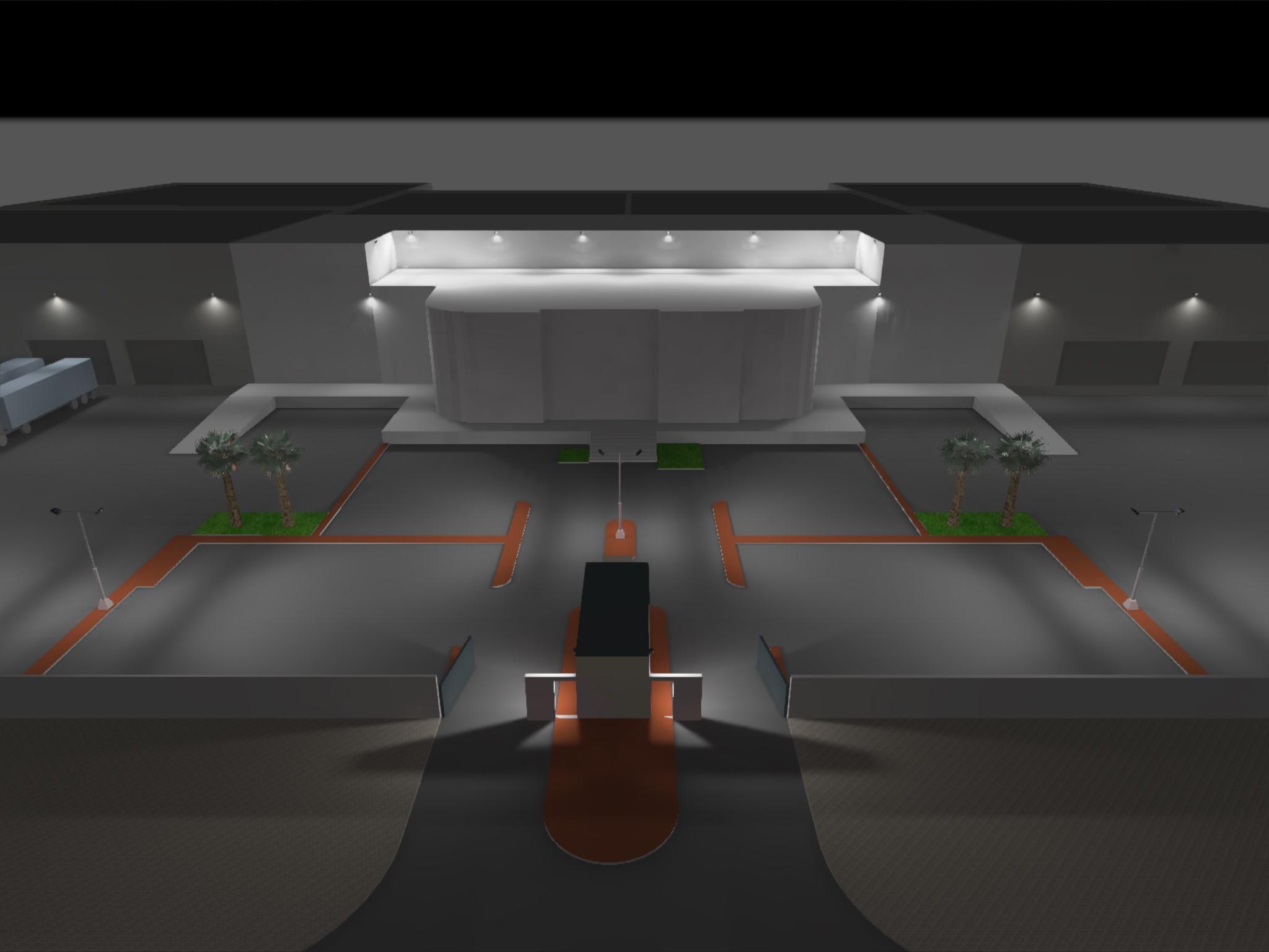 Dialux evo - Warehouse Design - Site View3