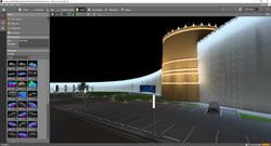 Sample facade lighting