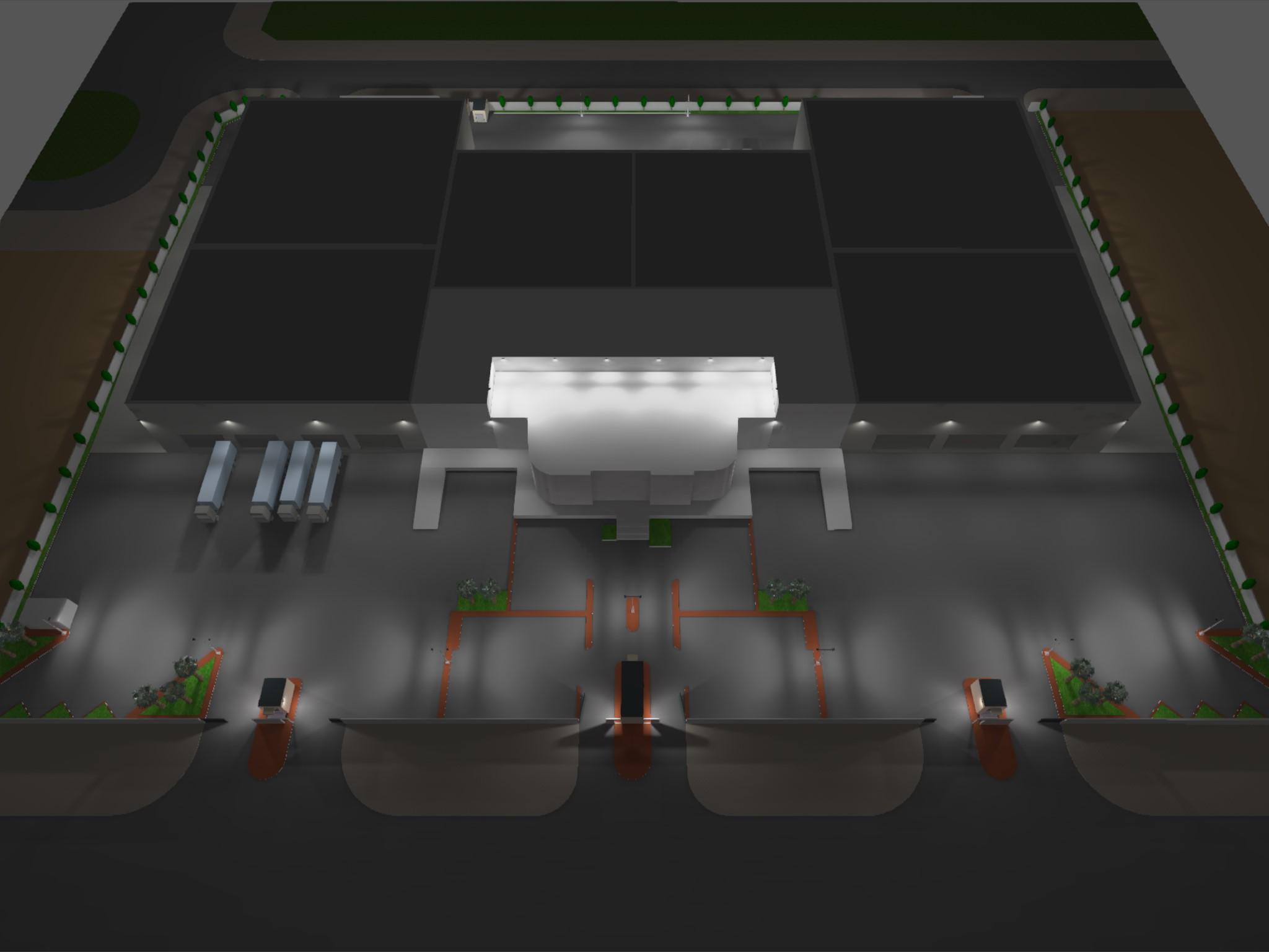 Dialux evo - Warehouse Design - Site View4