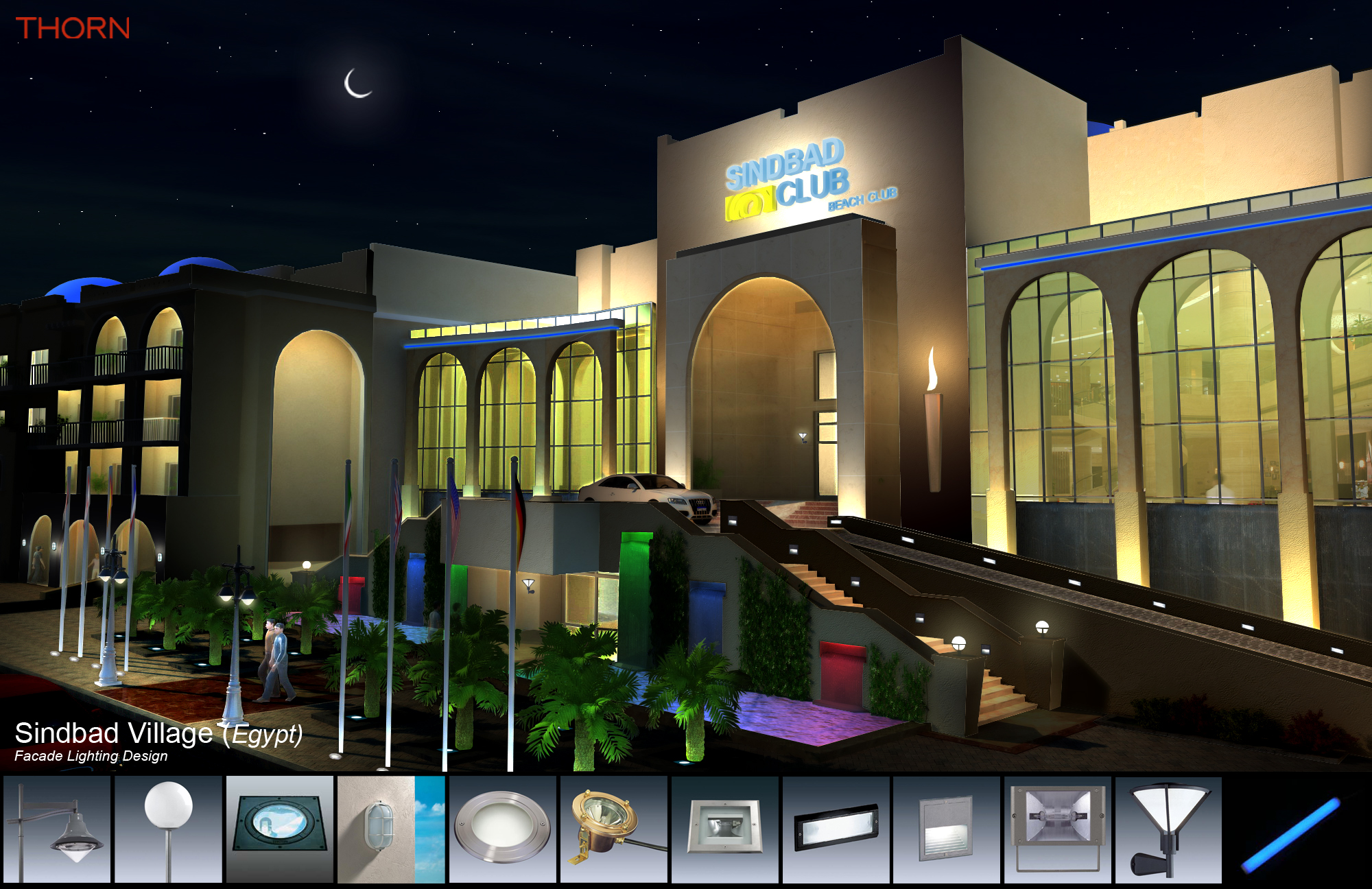 Sinbad Hotel Resort Facade Lighting