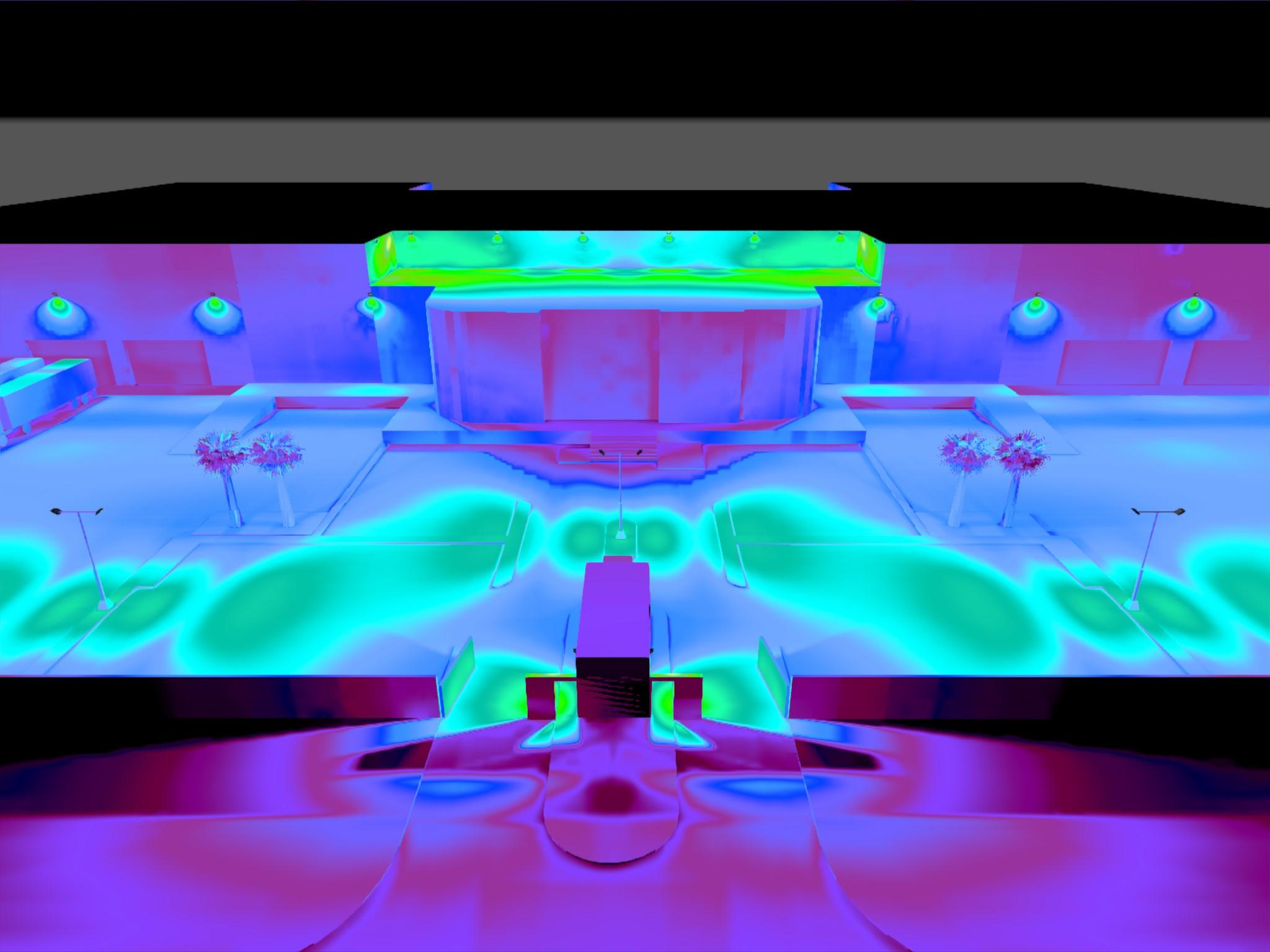 Dialux evo - Warehouse Design - Pseudo-color2
