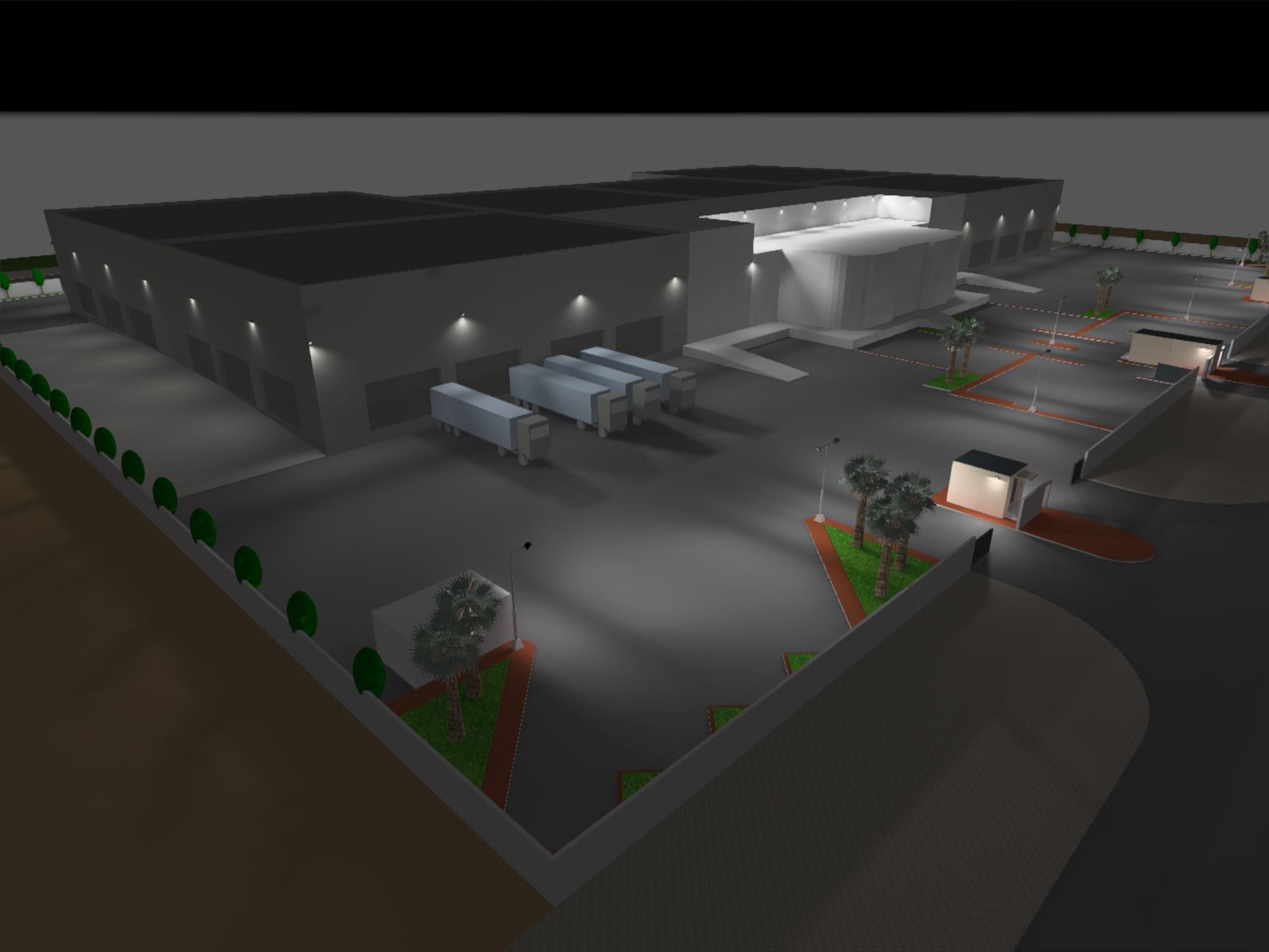 Dialux evo - Warehouse Design - Site View