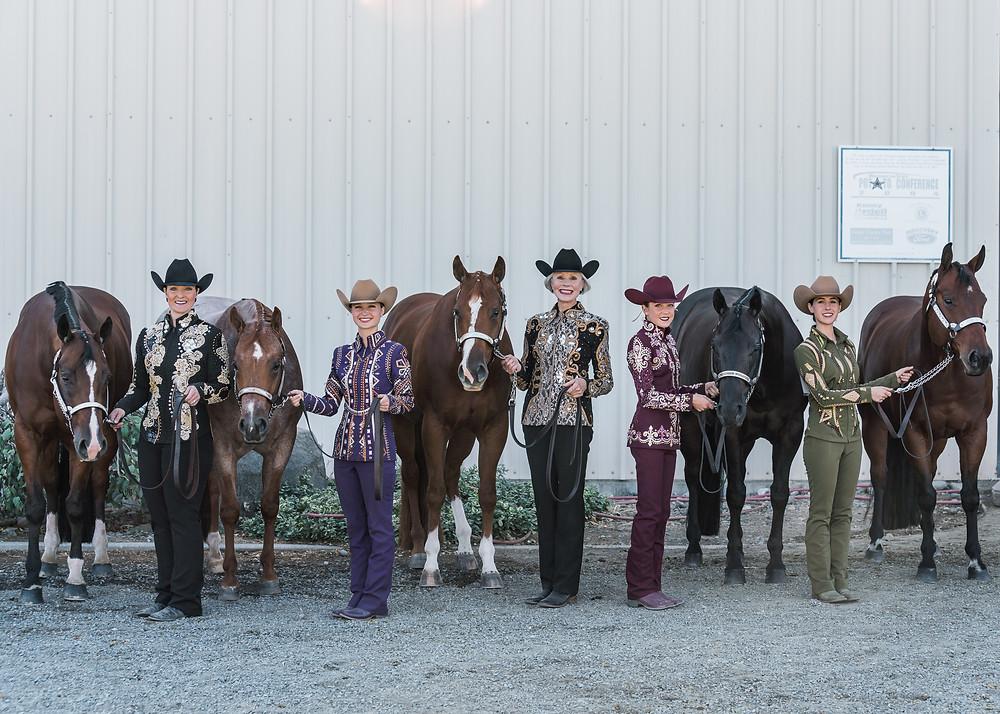 Sarah Diamond's showmanship team