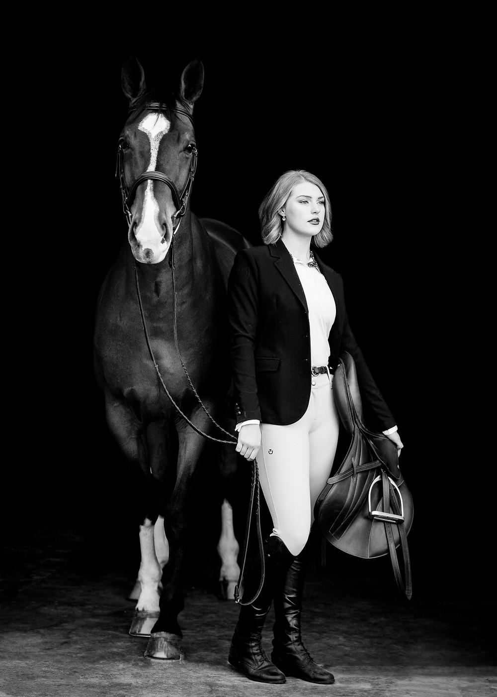 Siena & Kona on black background