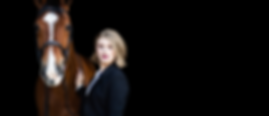 a black background image of a girl petting her bay horse on the neck | Kent, WA