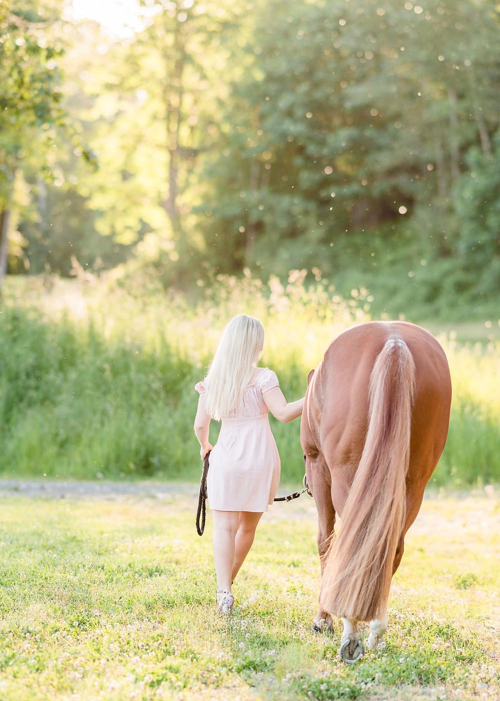 Caitlin & Ava walking away from the camera