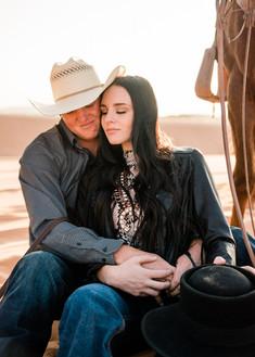 Josie & Brody Adams | Coral Pink Sand Dunes, Utah | Equestrian couple | cowboy couple