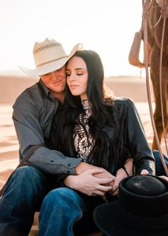 Josie & Brody Adams   Coral Pink Sand Dunes, Utah   Equestrian couple   cowboy couple