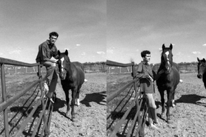 Blake and Armani | Black and White Phone image