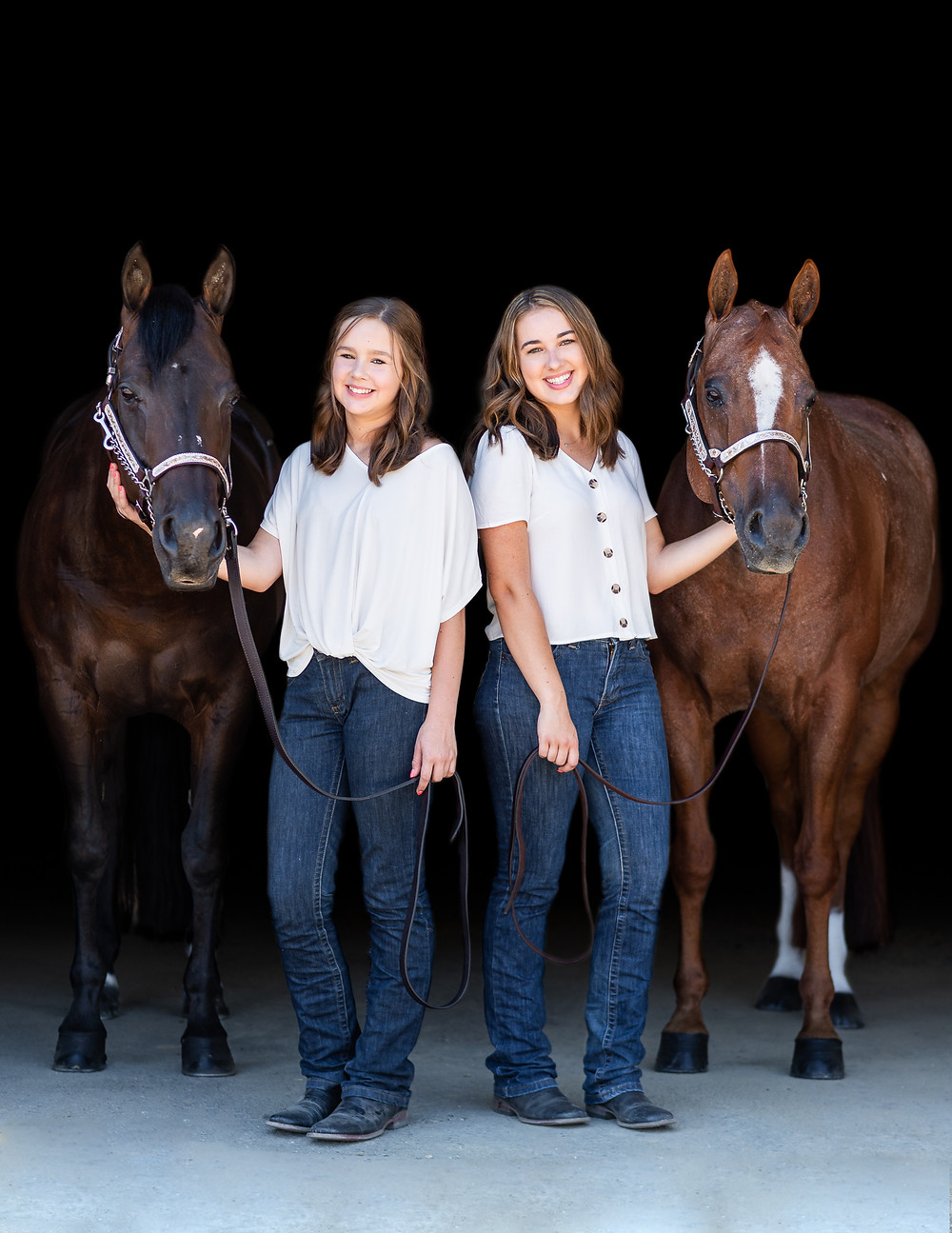 The girls and their horses