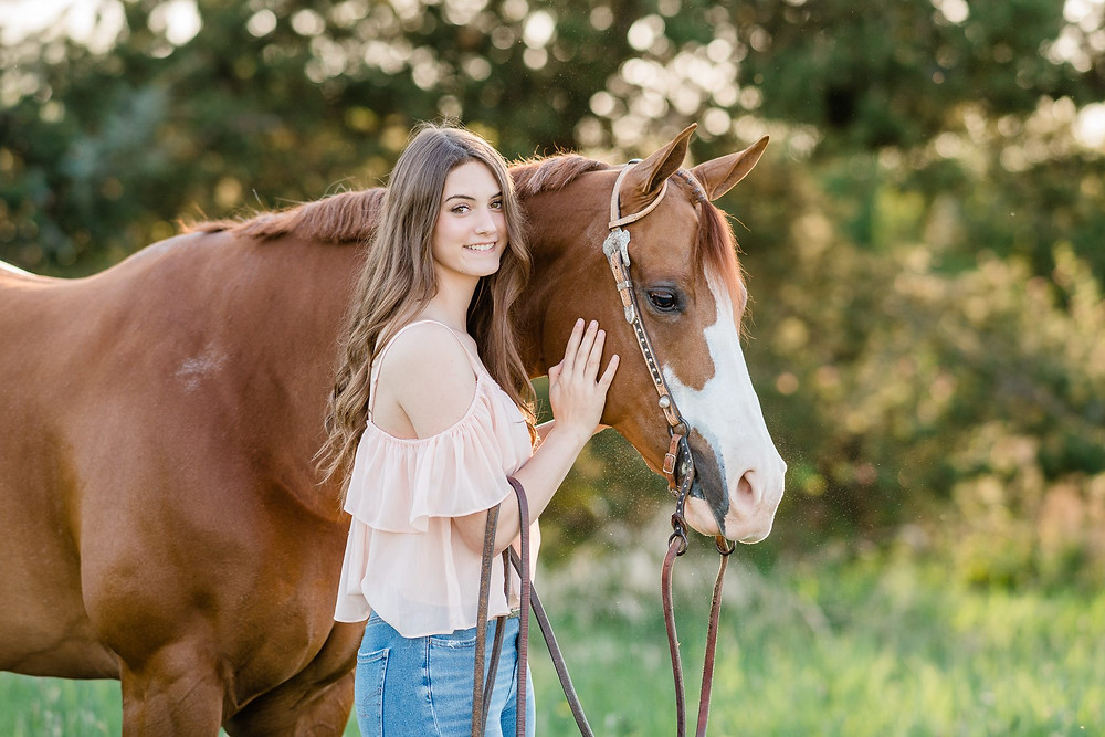 a headshot of Lauren and Slim during their equestrian portrait session